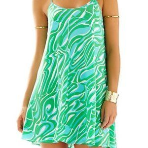 Lilly Pulitzer Maisy Silk Racerback Slip Dress, L